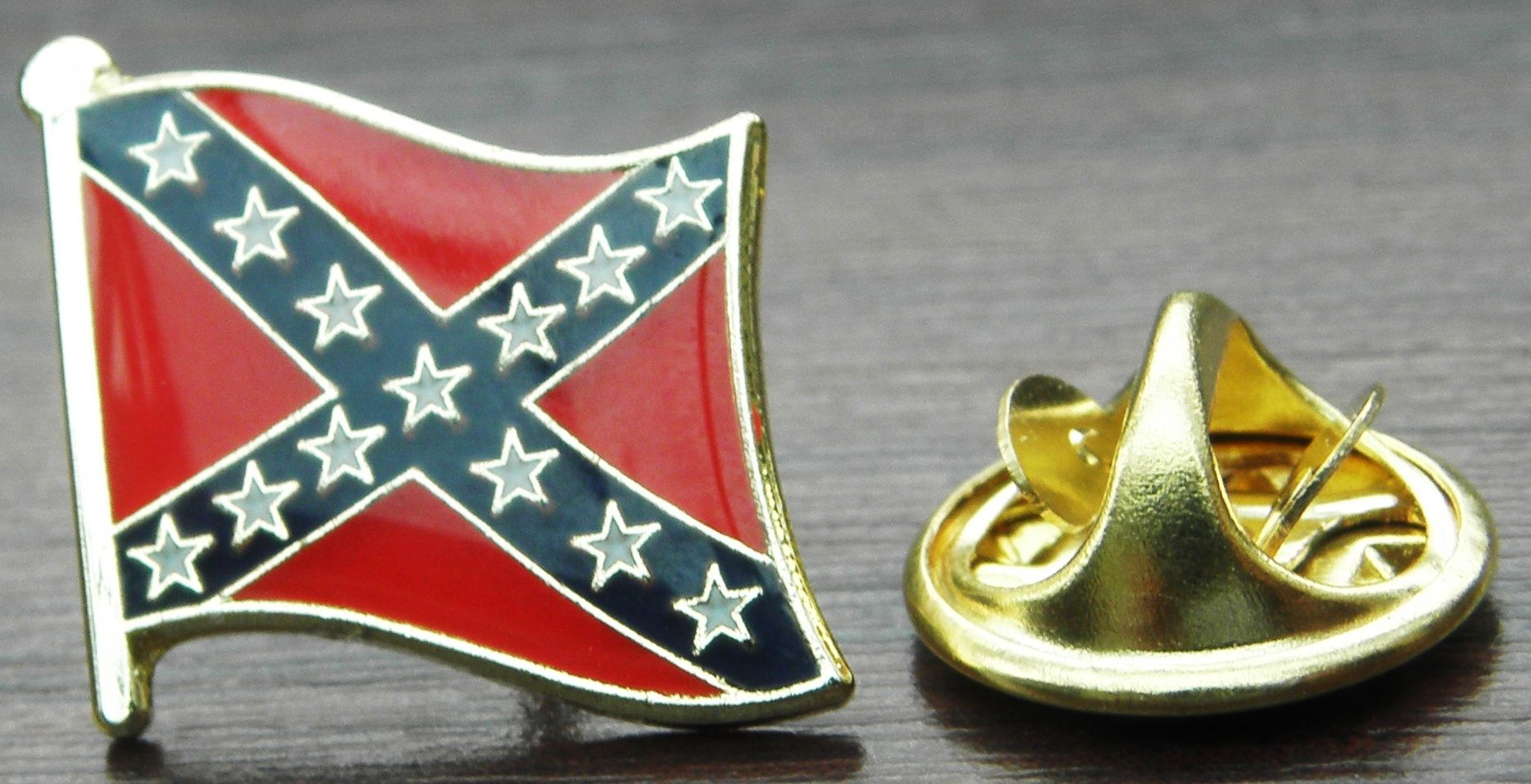 10 PCS x Confederate Flag Lapel Hat Cap Tie Pin Badge Rebel Gift Dixie Gift Souvenir