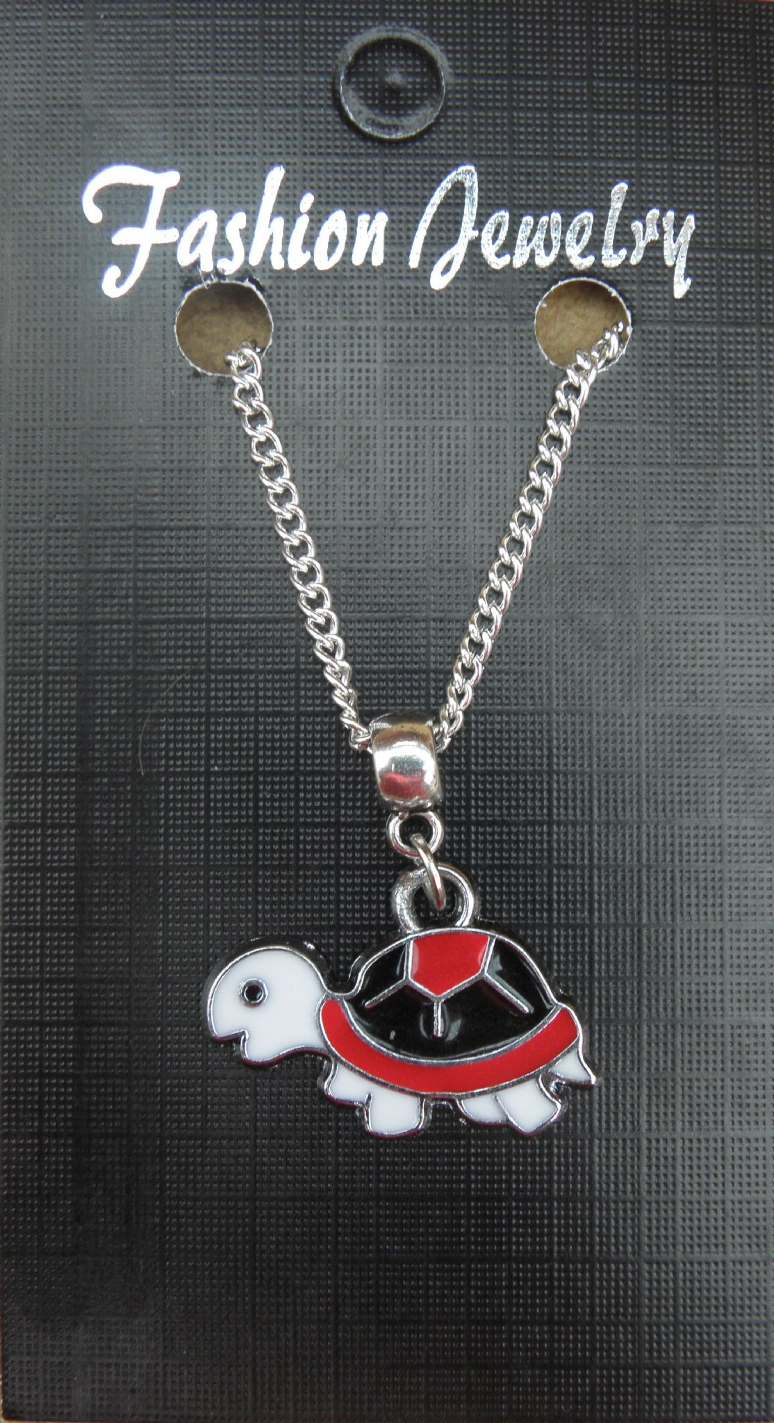 "18"" 24"" Inch Chain Necklace & Coloured Tortoise Pendant Charm Animal Lovers Gift"