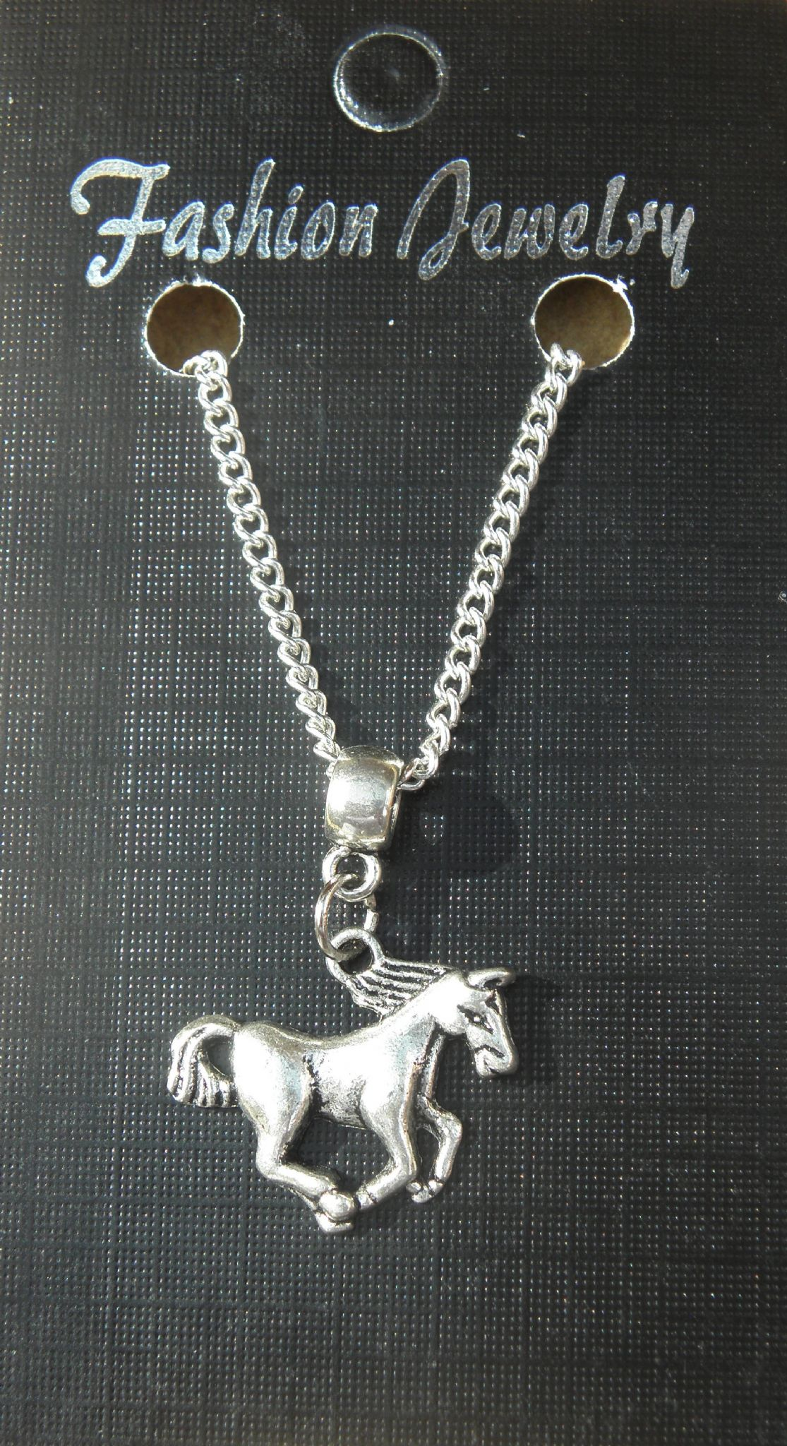 "18"" 24"" Inch Chain Necklace & Horse Pony Pendant Charm - Animal Lovers Souvenir"