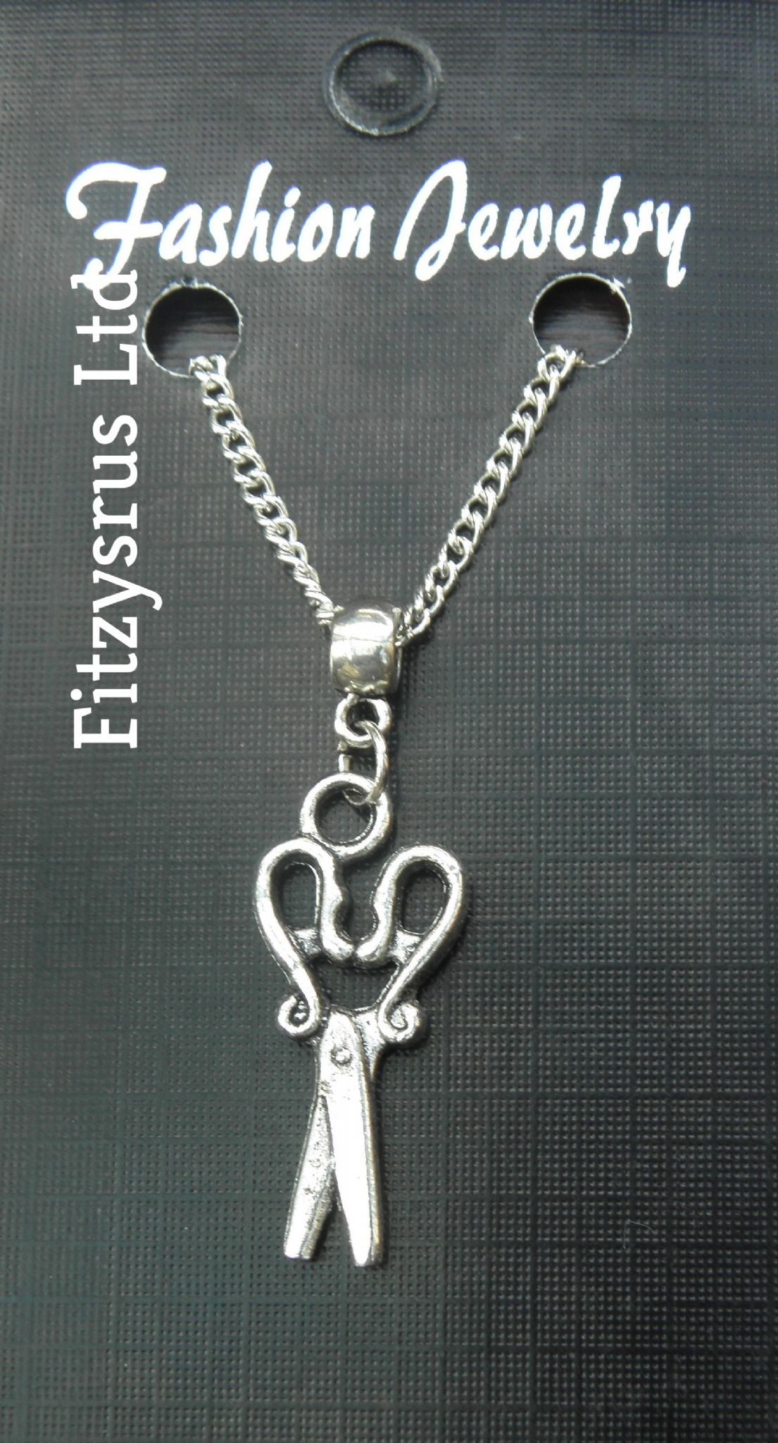 "18"" 24"" Inch Chain Necklace & Scissors Pendant Charm Hairdresser / Barber Gift"
