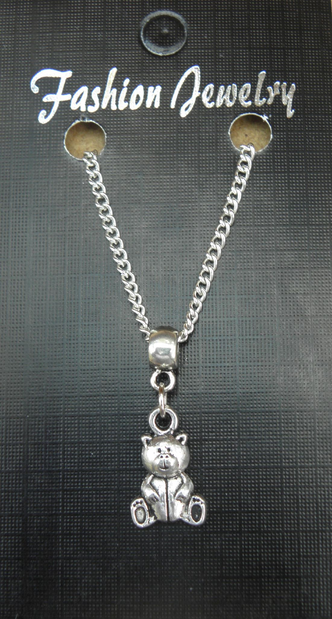 "18"" 24"" Inch Chain Necklace & Small Teddy Bear Pendant Charm - Brand New"