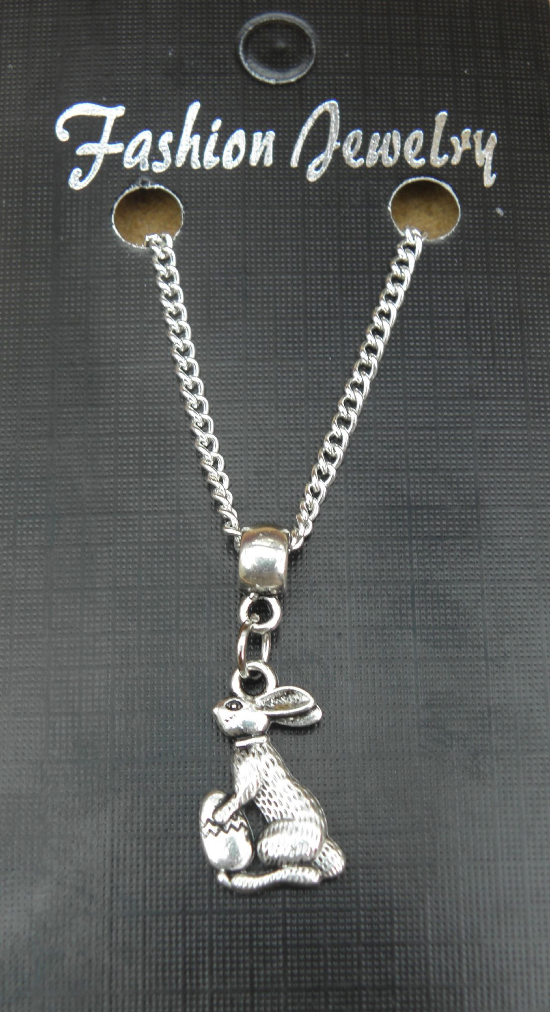 "18"" or 24 Inch Chain Necklace & Bunny Rabbit Pendant - Animal Lovers Charm New"
