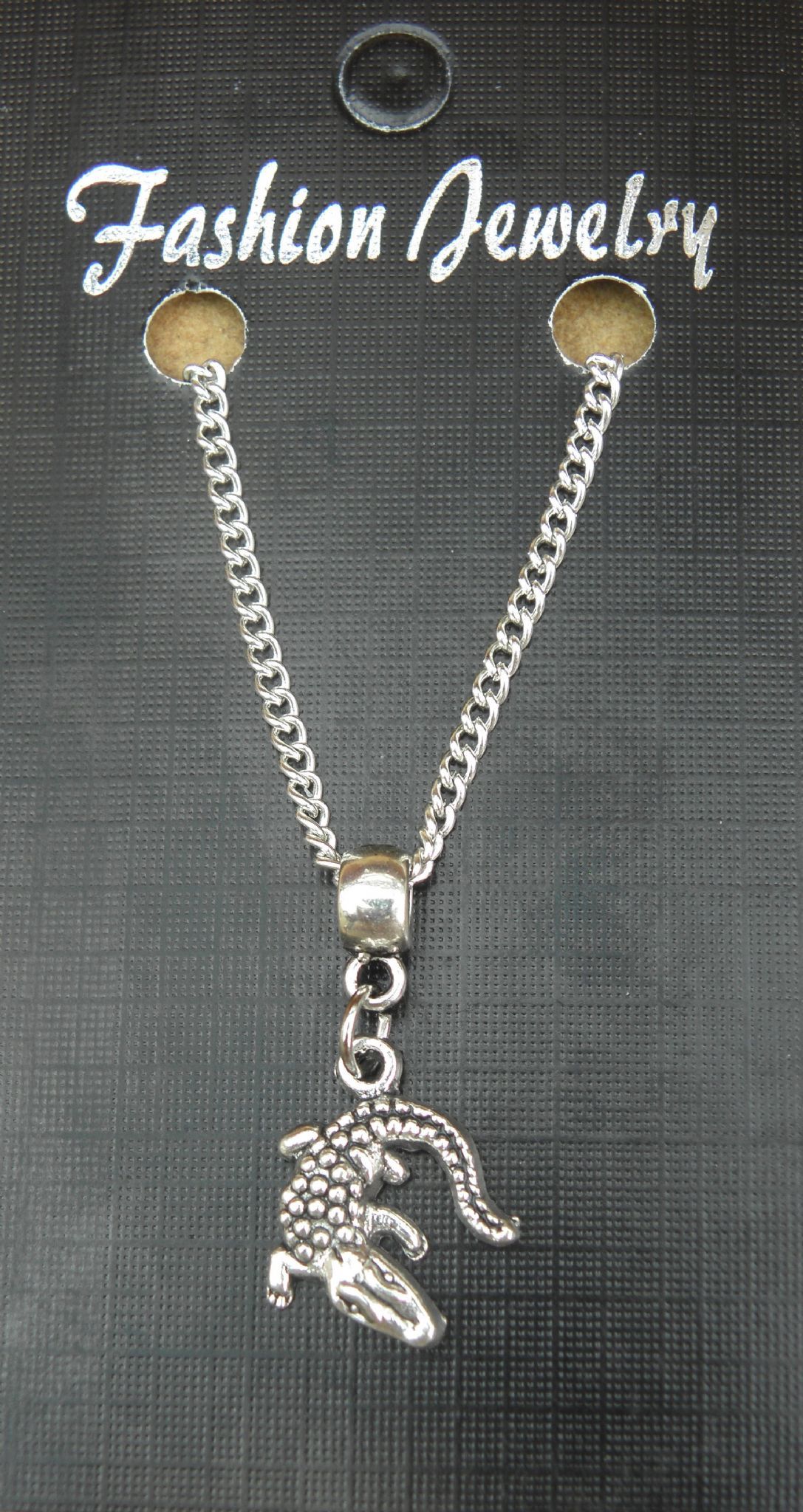 "18"" or 24 Inch Chain Necklace & Chameleon Pendant Charm Lizard Gift Souvenir New"