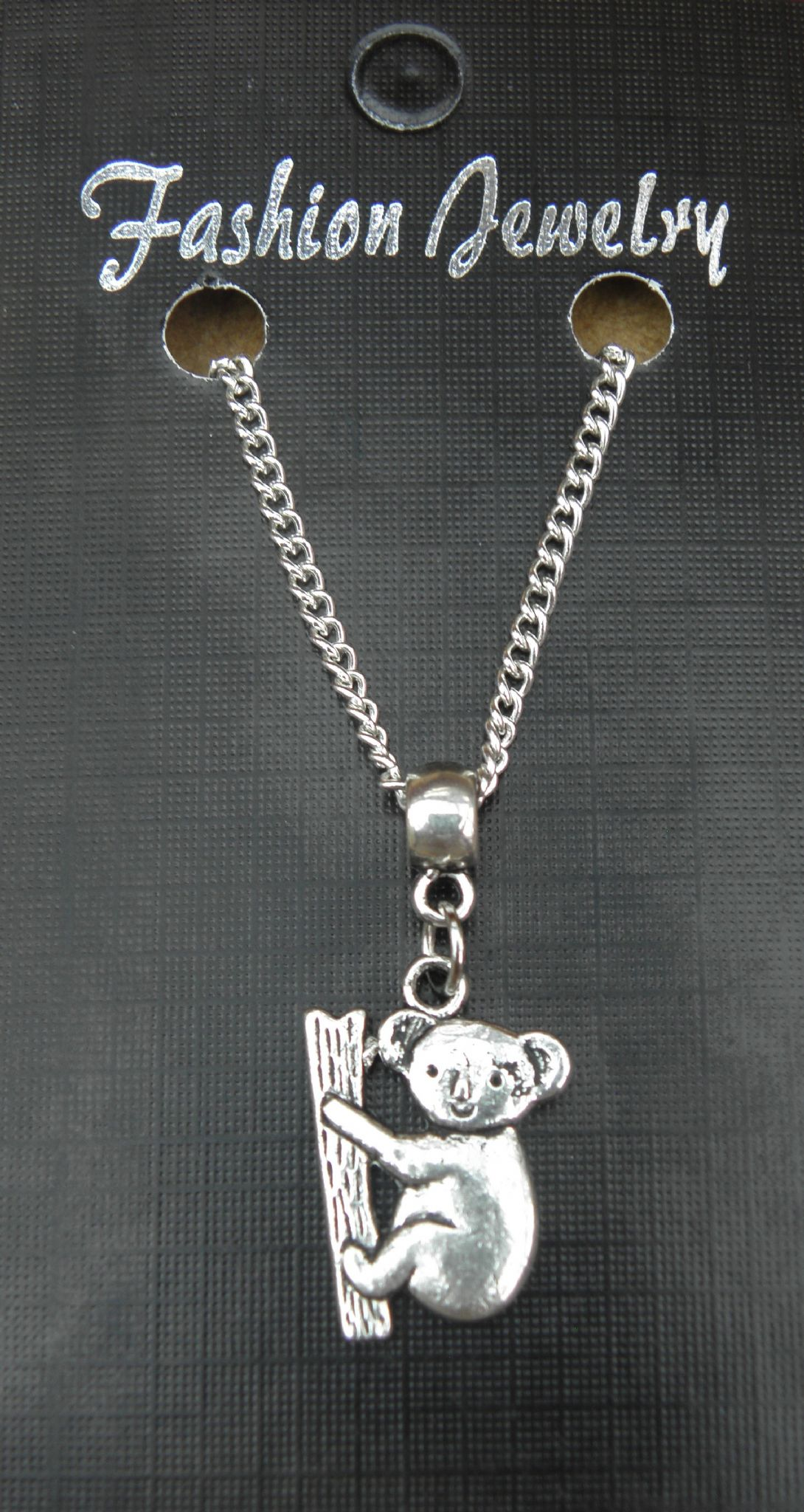 "18"" or 24 Inch Chain Necklace & Koala Bear Pendant / Charm - Animal Lovers Gift"