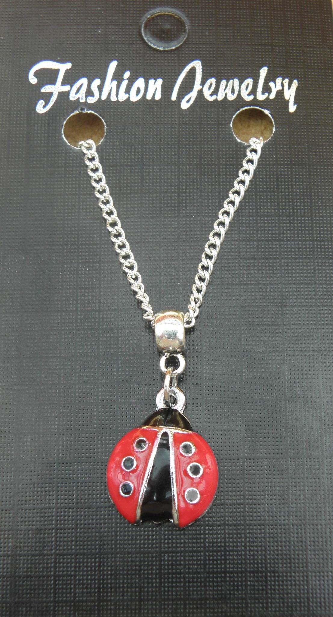 "18"" or 24 Inch Chain Necklace & Ladybird Pendant / Charm - Brand New"