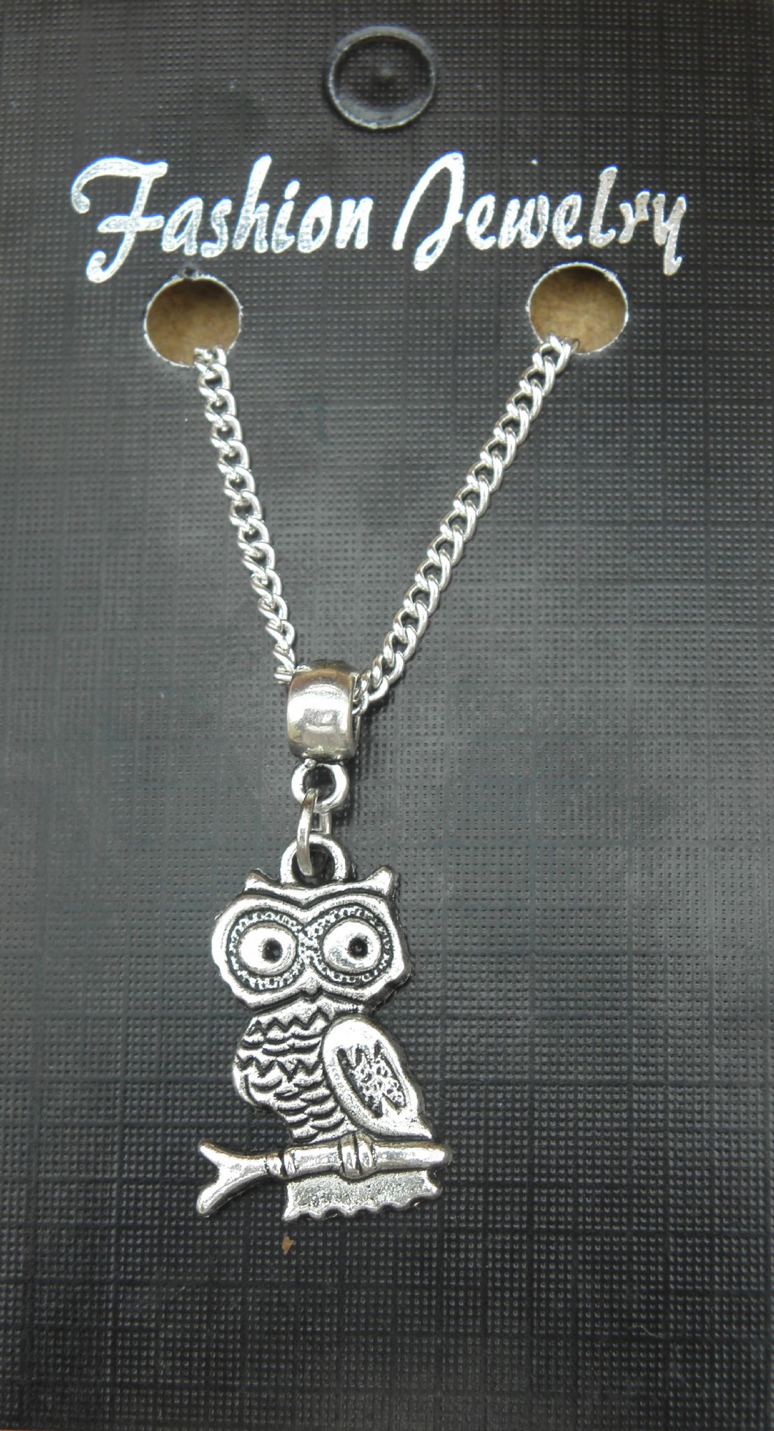 "18"" or 24 Inch Chain Necklace & Owl Pendant / Charm - Strigiformes Bird of Prey"
