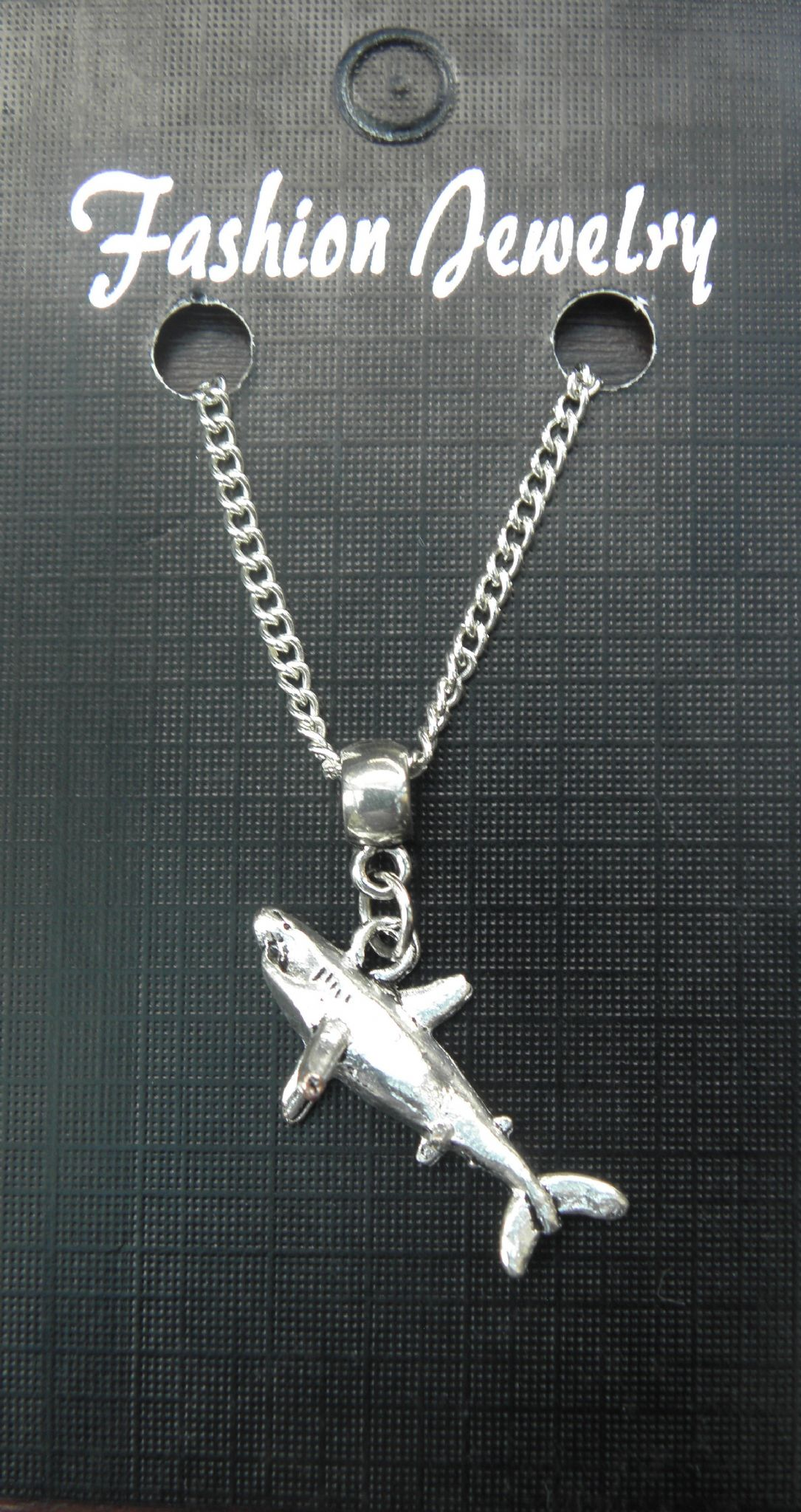 "18"" or 24"" Inch Chain Necklace & Shark Charm Pendant Fish Lovers Gift Souvenir"