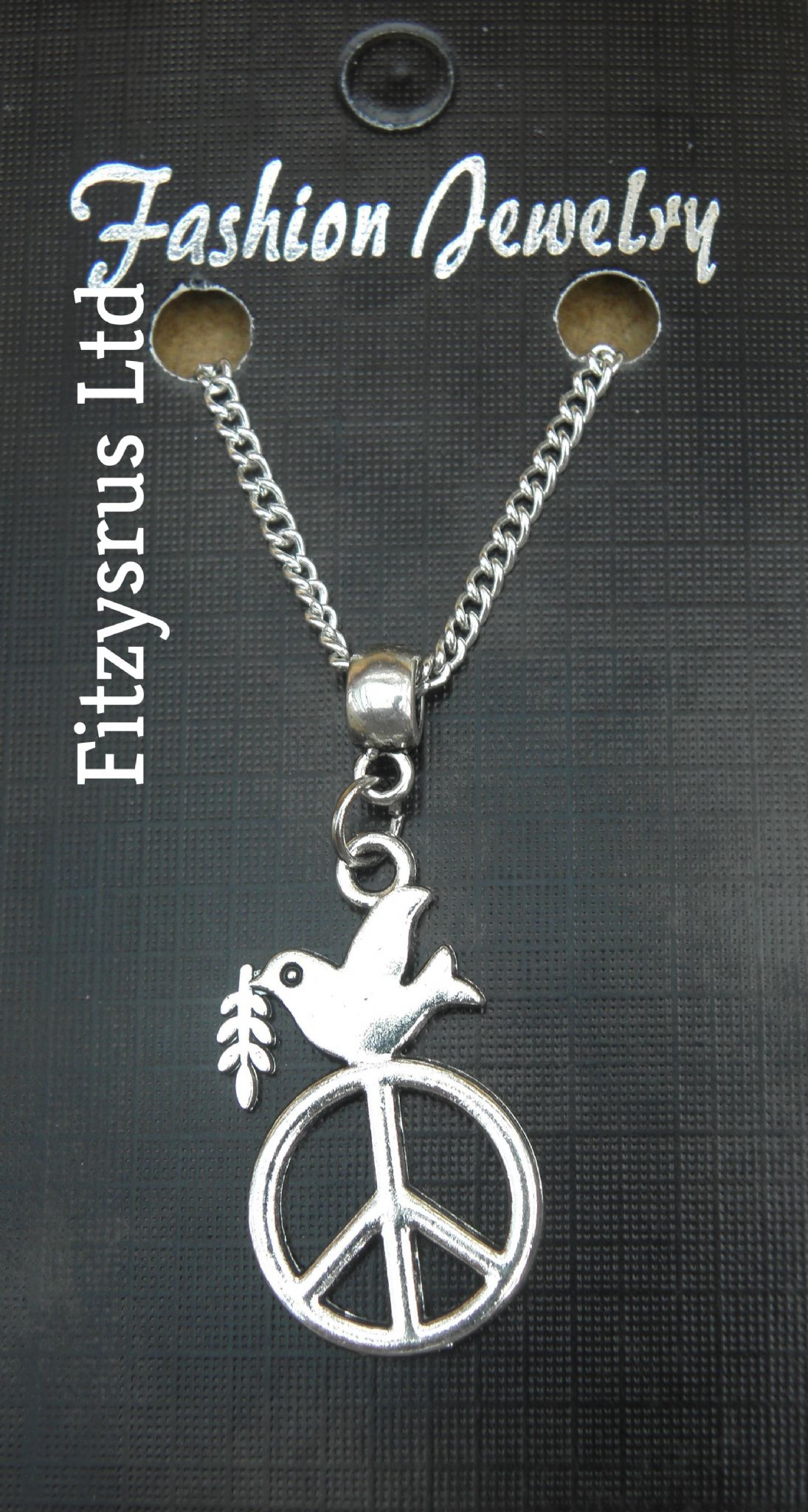 "18"" or 24 Inch Necklace & Dove of Peace Charm / Pendant CND Anti War Symbol New"