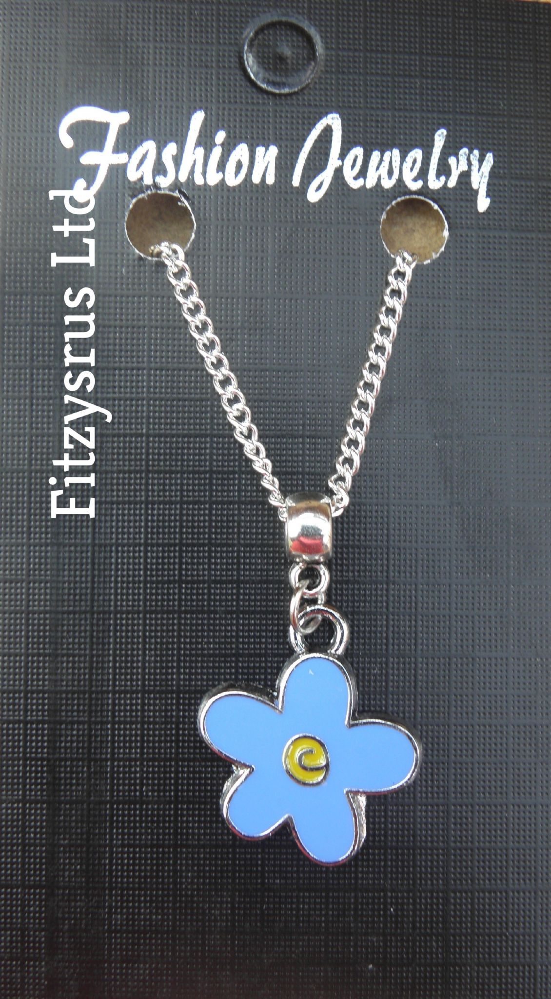 "18 or 24"" Inch Necklace & Forget Me Not Flower Masonic Mason Forgetmenot Charm"