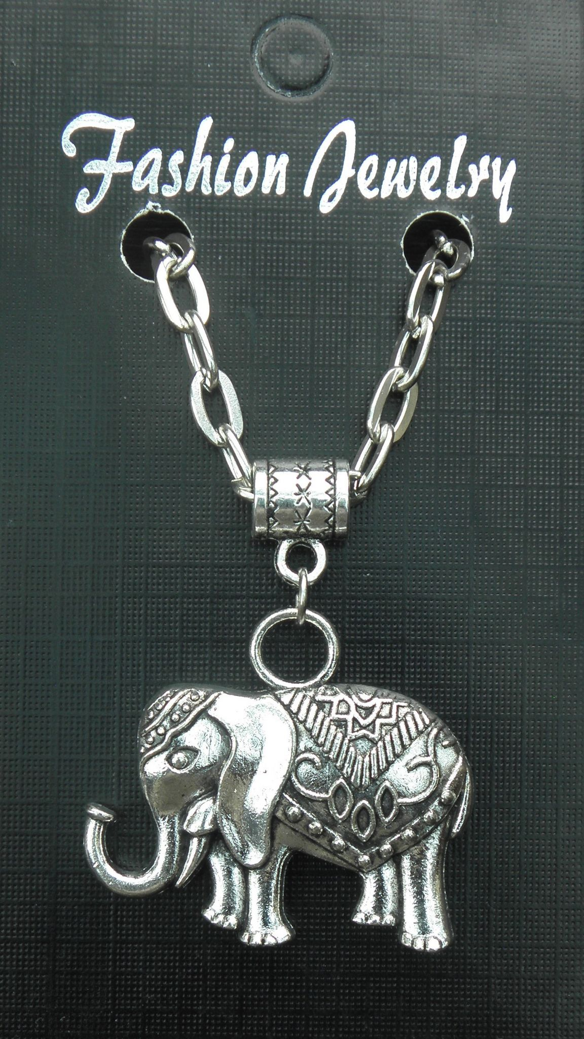 "20"" 24"" Inch Chain Necklace & Indian Dress Elephant Pendant Charm Brand New"