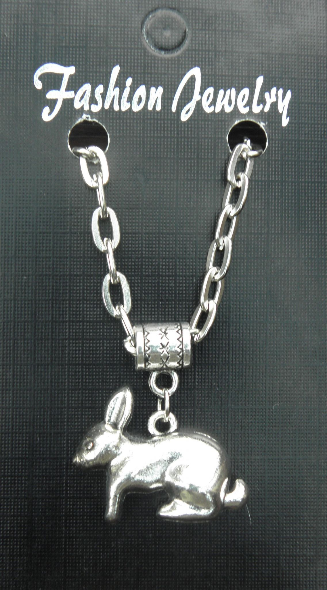 "20"" 24"" Inch Necklace & 3D Rabbit Pendant Charm Bunny Animal Lovers Souvenir New"
