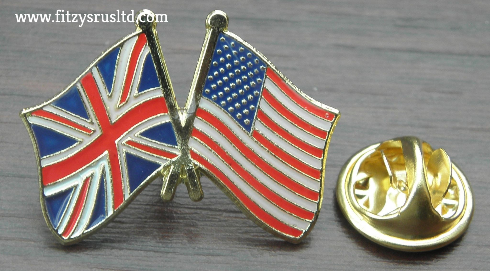 c9198026 America USA UK Union Jack Friendship Lapel Hat Tie Cap Pin Badge ...