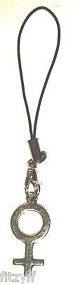 Female Symbol Mobile Phone Strap Handbag Charm Gay Pride Lesbian Diversity Sign