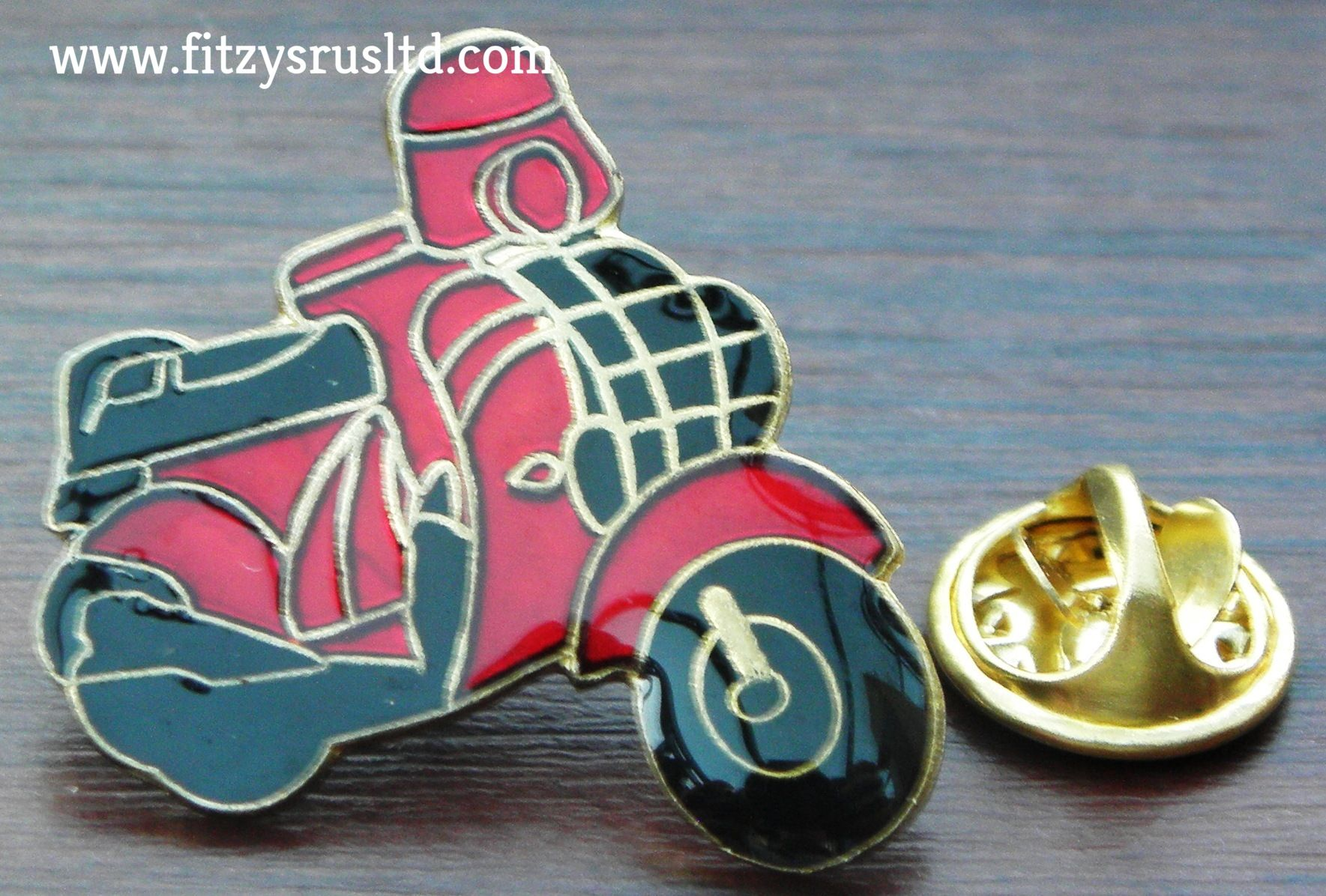 Mod Enamel Pin Badge Red Scooter
